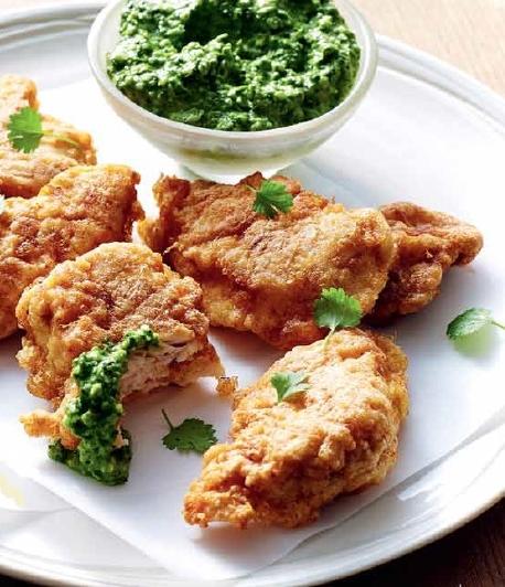 Pan-fried chicken + pepita pesto
