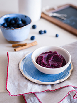 Apple blueberry puree