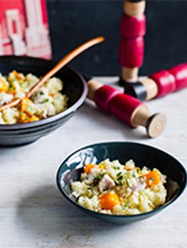Chicken pumpkin couscous