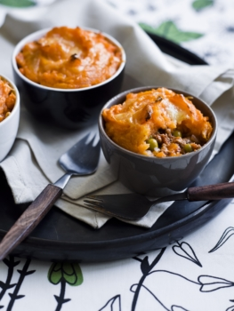 Beef + sweet potato cottage pies