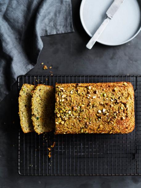 Zucchini Pistachio Loaf