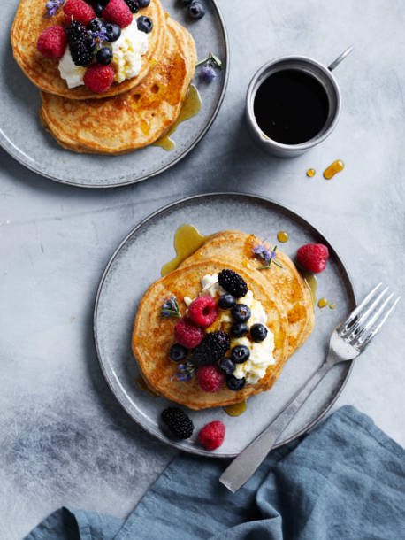 better-for-you banana pancakes