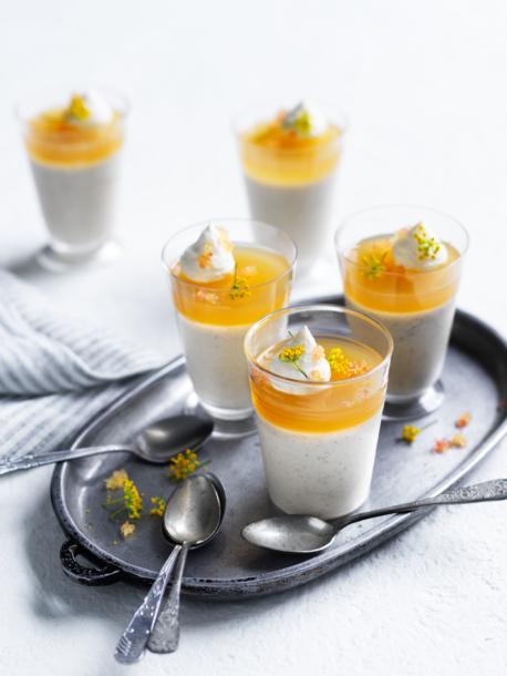 Lemon Myrtle Kefir Panna Cotta