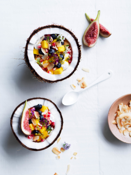 coconut fruit bowls