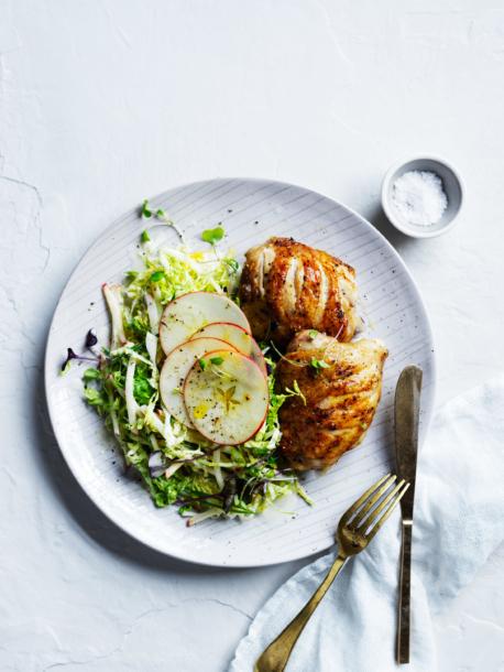 Grilled chicken + apple savoy slaw