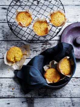 Lemon Lime Polenta Cakes