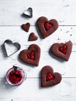 chocolate heart biscuits