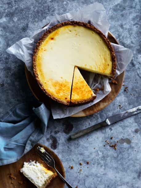 baked honey cheesecake