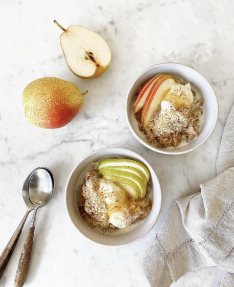 spiced pear porridge