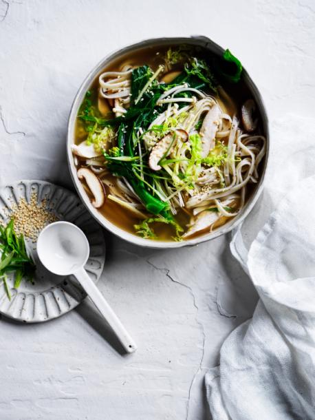 miso chicken noodle soup